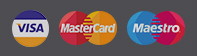 Card Logos, Visa, Mastercard and Maestro